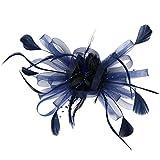 UJUNAOR 1920s Damen Stirnband mit Feder 20er Jahre Stil Haarband Gatsby Kostüm Accessoires(Marine,One size)