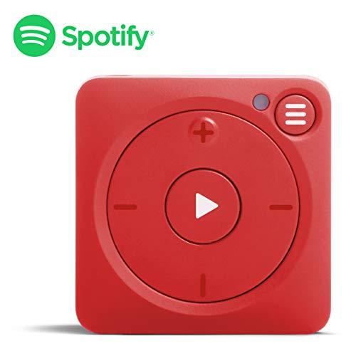 Mighty Vibe Reproductor de música Spotify - Mooshu Red - Reproductor de Audio con Clip Deportivo, para Auriculares Bluetooth y con Cable - IR al Gimnasio, Correr, Hacer Ciclismo, sin teléfono