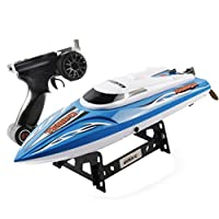 JIANGfu RC Boat with Water Cooling System Brushed Motor High Speed UDI 002 2.4G