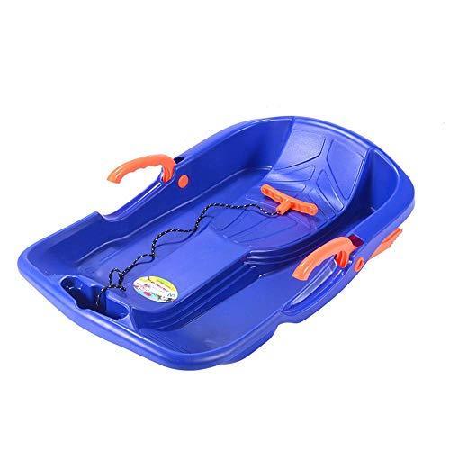 MGIZLJJ Kinderrodelbahn mit Bremsen Flexibler Fliegender Teppich Leichter Roll-Up-Schneeschlitten Tragbarer Roll-Schneeschieber (Color : Blue)