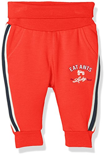 Sanetta Baby-Jungen Jogginghose 113757, Rot (Red Apple 3955), 62