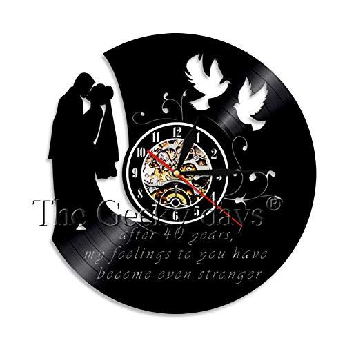 Wanduhr Hochzeitstag Kunst Wanduhr Retro Vinyl Record Ausgeschnitten 12