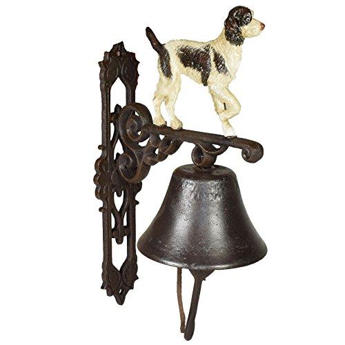 AB Tools Springer Spaniel Hund Bell Zeichen aus Gusseisen für Tür Schild Einstellung Barriere Post House