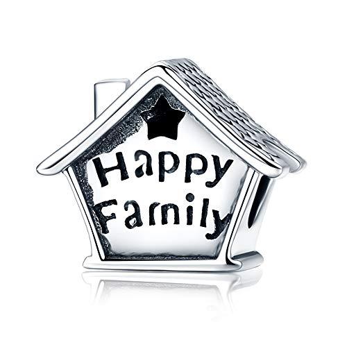 Dxlts Charm Armband Für Frau 925 Sterling Silber Haus Charms Perlen Happy Family Anhänger Kompatibel EuropäIsche Armband & Halskette Geburtstag Weihnachten