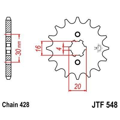 JT - F54813 : Piñon ataque transmision delantero