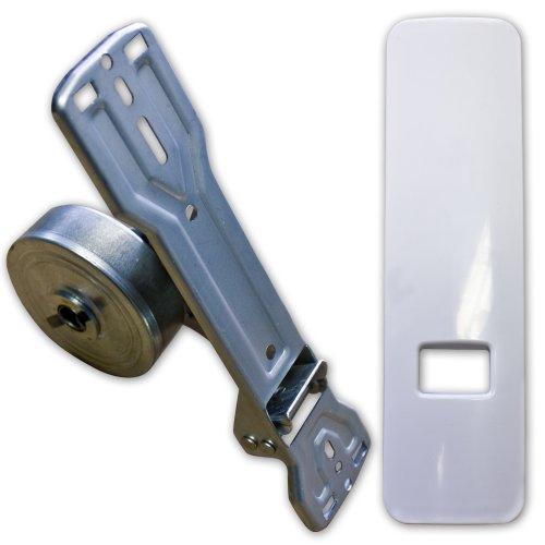 Preisvergleich Produktbild Gurtwickler inkl. Design-Abdeckplatte Lochabstand 135mm - 185mm stufenlos für Rollladen / Rolladen (für 20-24mm Gurtband)