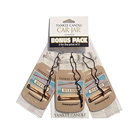 Yankee Candle Sun & Sand Car Jar 3-For-2 Bonus Pack