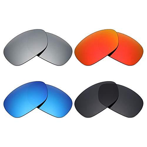 Mryok polarisierte Ersatzgläser für Oakley C Wire 2011 Sonnenbrille - Stealth Black/Fire Red/Ice Blue/Silver Titanium