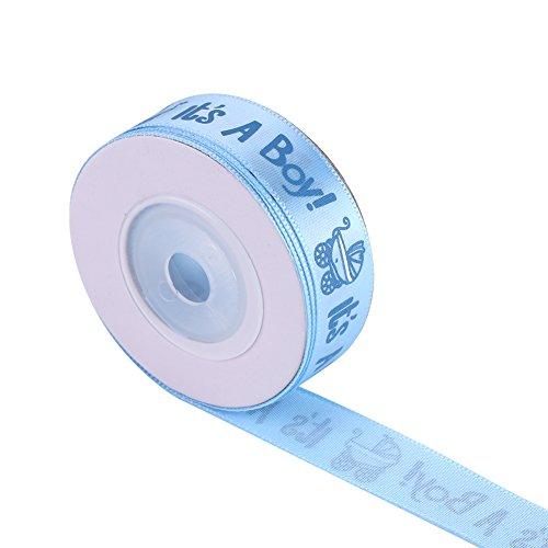 10 Yards Baby Shower Ribbon Es ist ein junge Mädchen Grosgrain Satin Organza Sheer Fabric Ribbon Spool für Baby Birth Party Gefälligkeiten Verpackung besondere Anlässe Dekorationen Lieferungen(Blau) -