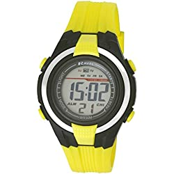Ravel Boys/Kids Digital LCD Sports Watch - Gift Boxed - Multi Functional- 14-20cm Strap - 3ATM - Yellow 2j