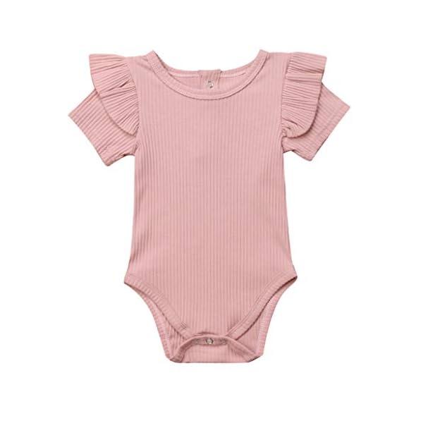 MAYOGO Mono Bebé Niña Verano Mangas Cortas con Volantes Bebé Body Fotografia Ropa de Bebe Niñas Bodies Fiesta Bebe… 3