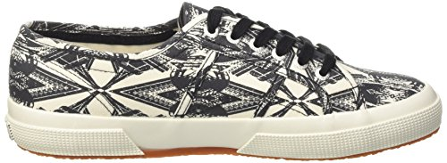 Superga 2750-Fantasy Cotu, Scarpe Low-Top Unisex Adulto Multicolore (Optical Paris)