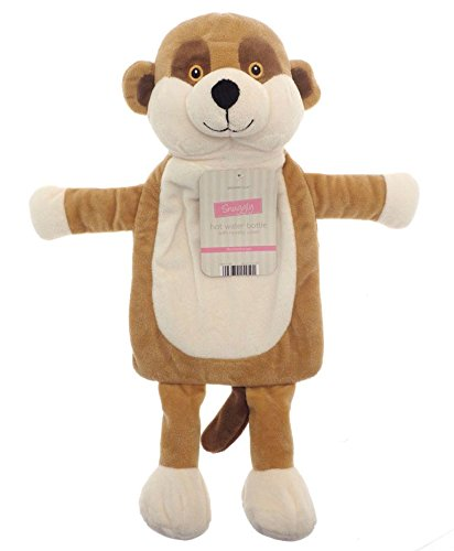 Image of Kids Hot Water Bottle with Adorable Cuddly Animal Cover - Meerkat