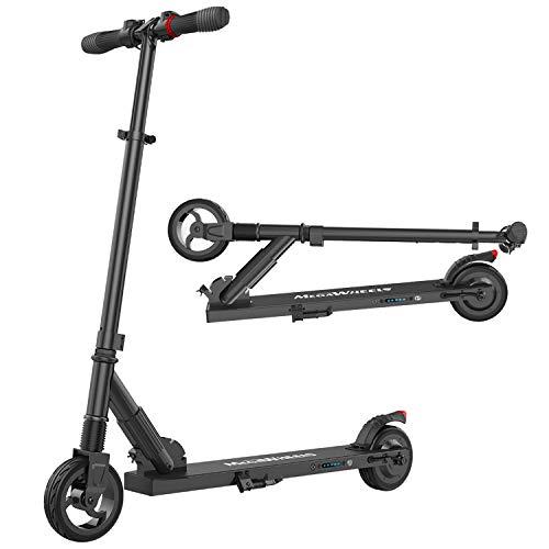 M MEGAWHEELS Monopattino Elettrico Pieghevole Scooter Ultra-Leggero 7,8kg,velocità Fino a 23km/h,per Adulto,Bambini(Nero)