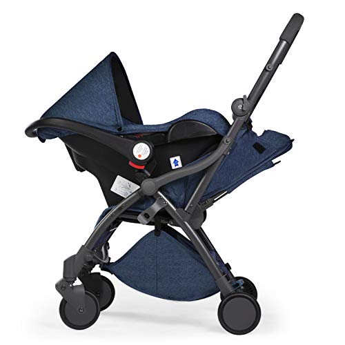LZTET Kinderwagen Reisesystem 3 In 1 Kinderwagen Faltbarer Tragbarer High Landscape Lightweight Buggy,Blueb