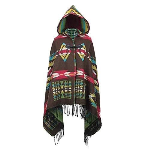 MeiPing Womens Böhmische Wraps Mit Kapuze Capes Coat Schals Kaltes Wetter -