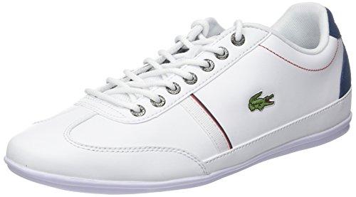 Lacoste Herren Misano Sport 118 1 Cam Sneaker, Weiß (WHT/Nvy), 42 EU