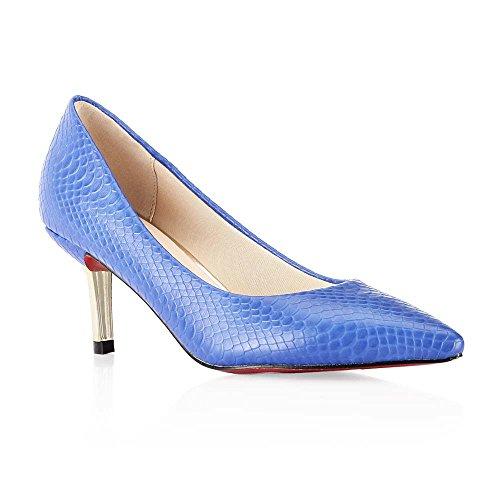 Tresmode Women's Synthetic Blue Slim Heel Pumps