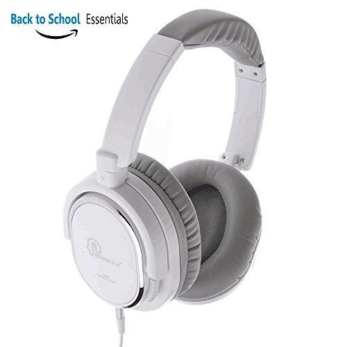 Holdsound Nch-108Active Casque réducteur de bruit avec prise jack Avion Over Ear Casque audio Silencieux avec amplification des basses et Mircophone pour smartphone PC (Blanc)