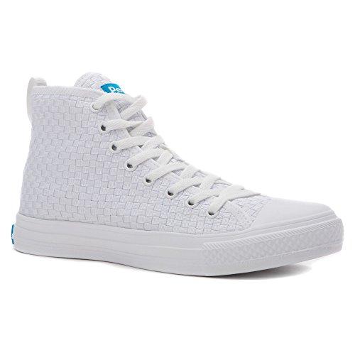 People Footwear The Phillips High Maschenweite Turnschuhe Yeti White