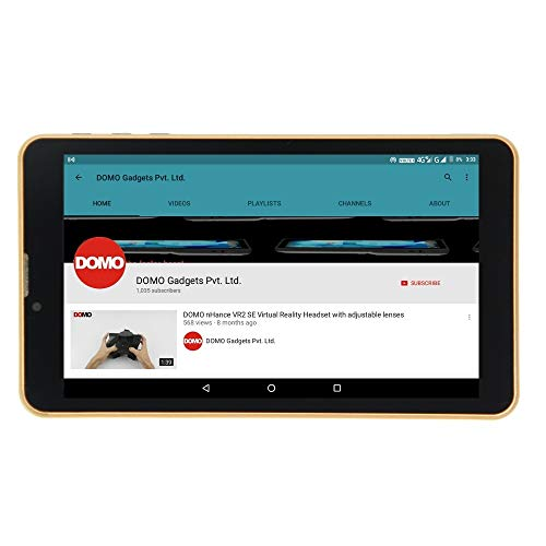 Domo Slate S8 Tablet (16GB, 7 inches, 4G) Gold, 2GB RAM Price in India