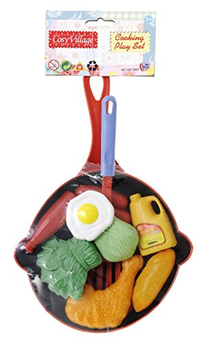 Lets Cook Play Food Set Frying Pan Kid Child Kitchen Cook Role Pretend Toy Kit
