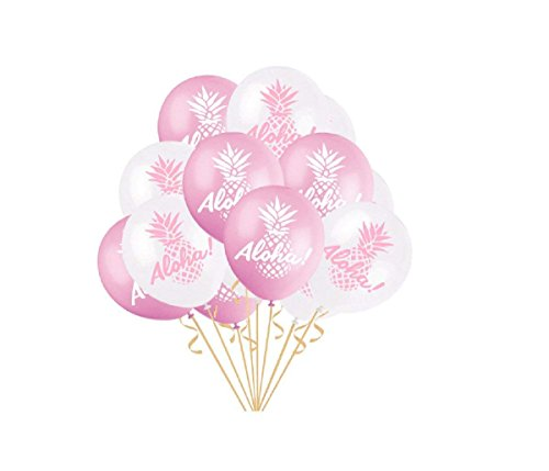 Kodoria 50 stücke Hawaiian Tropical Party Ballons Latex Ballons Aloha Balloons für Hawaii Tropical Celebration Party Dekorationen, 12 Zoll