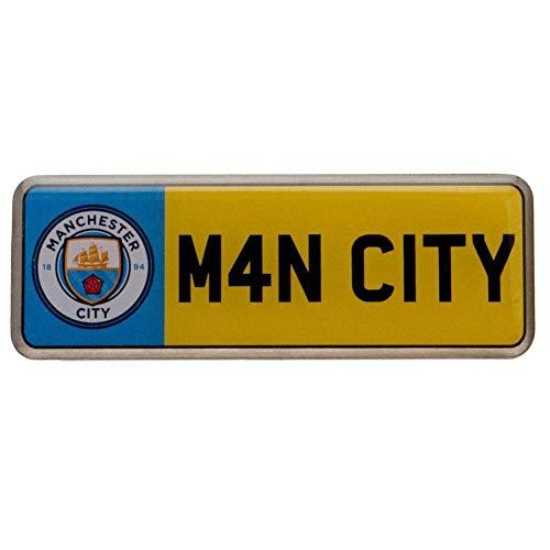 Manchester City FC Nummernschild Anstecknadel (Einheitsgröße) (Bunt)