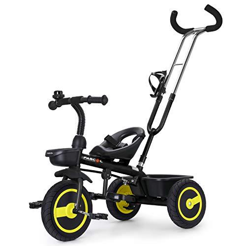 Fascol Tricycle Bébé Evolutif avec Roues Silencieuses en Caoutchouc pour Enfant de...