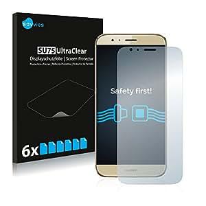 6x Savvies Film Protection pour Huawei G8 Protection écran Film Protecteur Transparent