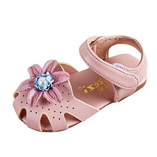 Prinzessin Schuhe MäDchen, Sandalen mit Blumen, Infant Pre Walker Schuhe, Baby-süße Elegante Perlenschuhe, Kleinkind-Sommerschuhe -