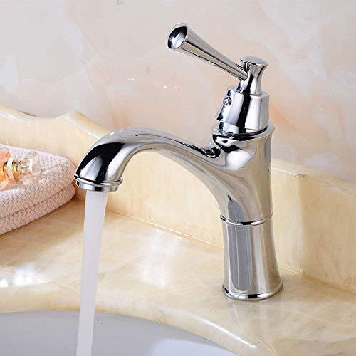 LOSYU Badezimmer Waschbecken Wasserhahn unter Gegenbassin-Hahn-Badezimmer-Bassin-Wannen Taps mit warmen und kalten Wasserhahn Zähler Einhand-Loch Vakuumbeschichtung