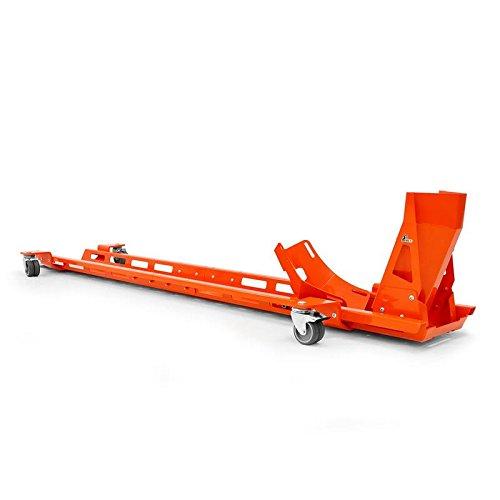Rangierschiene mit Motorrad-Wippe Motorradwippe 17-21 Zoll Radhalter Radwippe Rangierhilfe Parkhilfe orange IBEX