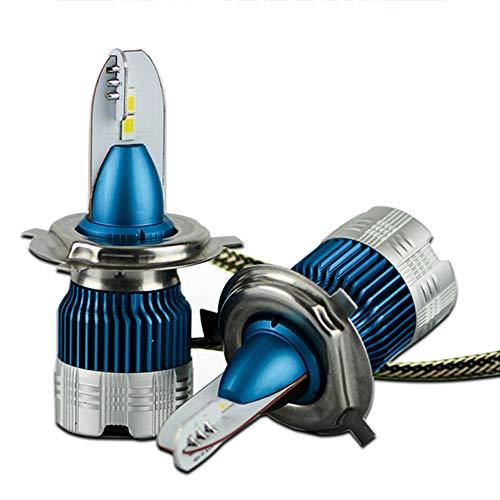 bqmqolove 1 Coppia di lampadine per Mini Faro a LED per Auto IP68 Impermeabile 50 W 6000LM Kit per fendinebbia per Auto Super Leggero con Ventola di Raffreddamento Size H7