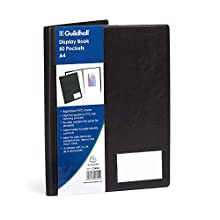 Exacompta Guildhall PVC Display Book, A4, 50 Pockets - Black