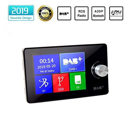 "Coche Dab/Dab + Receptor Sintonizador de Radio Europeo con 2.8\"" LCD Color Pantalla A2DP Llamada Teléfono Manos Libres Bluetooth Kit Tarjeta 3.5 mm AUX Salida Tarjeta TF/USB Puerto FM Transmisor"