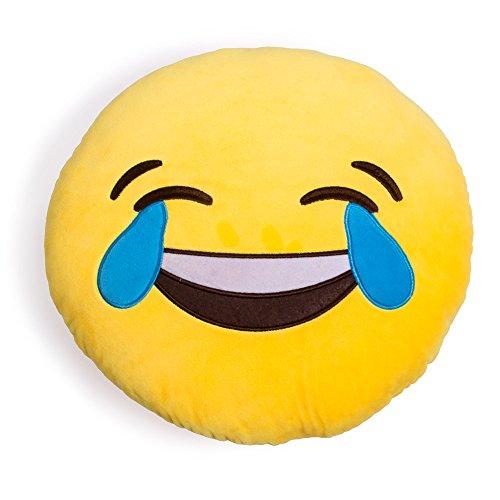Desire deluxe cuscino emoji ridi alle lacrime sorridente cuscino emoticon cacca che ride grande cuscino decorativo peluche emoji pupazzo emoji xl smile face piangere colore giallo