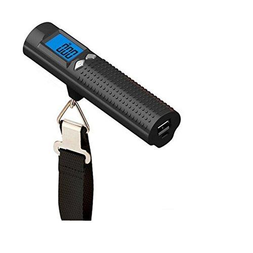 Handgepäck Scale 50 Kg mit Taschenlampe Portable Kleine Elektronische Waage Travel Fast Fishing Scale,Black