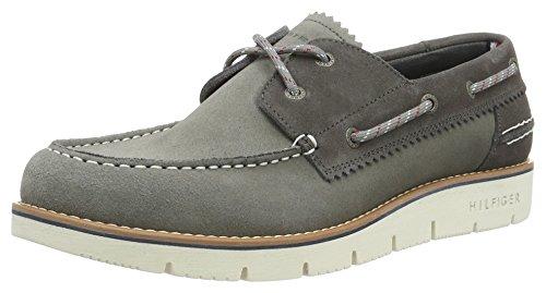 Tommy Hilfiger C2285ase 4b, Chaussures Bateau Homme Gris (Light Grey 007)