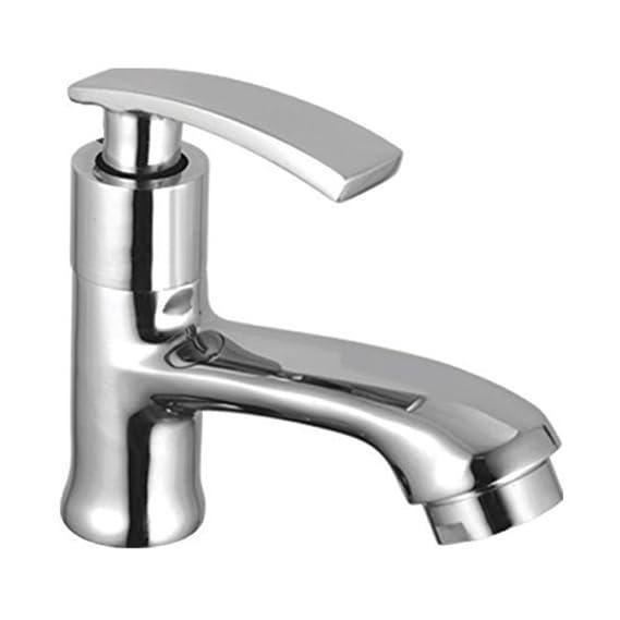 Drizzle Pillar Cock Soft Brass Chrome Plated/Wash Basin Tap/Bathroom Tap/Quarter Turn Tap/Foam Flow Tap