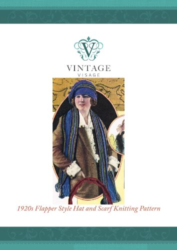 How to knit a 1920s Downton Abbey era flapper style striped hat and scarf (English Edition)