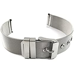 Fulltime(TM) Milanese Bracelets Stainless Steel 14 16 18 20 22 24mm Wrist Watch Band Strap