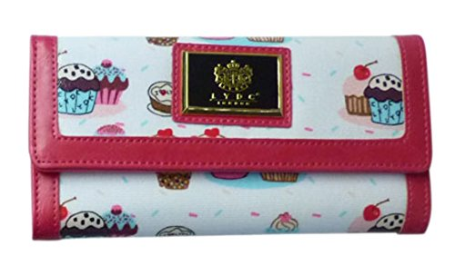 - 41O 2BQv6lDoL - Womens LYDC Purse Cupcake Prin Glossy Patent Ladies Wallet Boxed Gift Designer