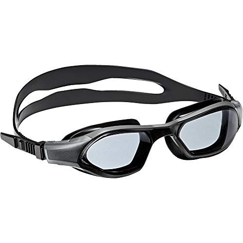adidas Kinder Persistar 180 Junior Schwimmbrille, Smoke Lenses/Utility Black, One Size