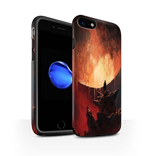 Offiziell Chris Cold Hülle / Matte Harten Stoßfest Case für Apple iPhone 7 / Schmelzen Sonne Muster / Fremden Welt Kosmos Kollektion Schmelzen Sonne