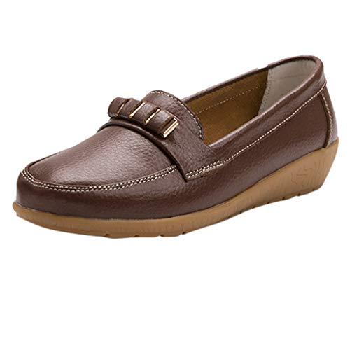 Luckhome Klettverschluß Sandalen Socken Wechselfußbett Damen Schuhe Damen vielseitige Flache Schuhe weicher Boden große Größe lässig einfarbig Schuhe(Khaki,EU:35)