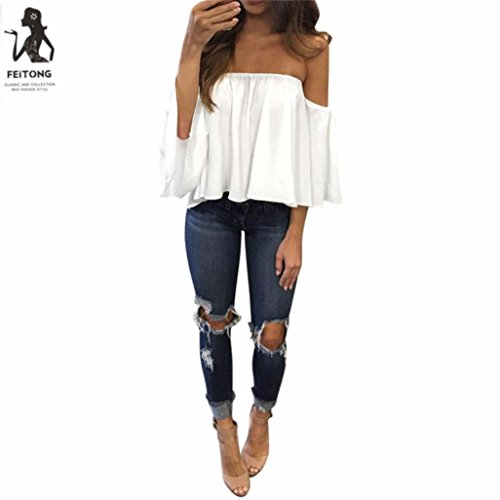 MERICAL Women Long Sleeve Pullover T Shirt Off Shoulder Casual Blouse