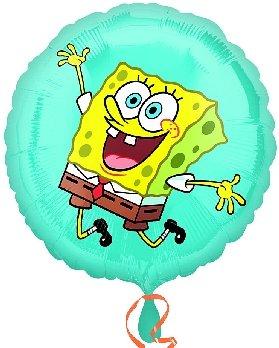 Folienballon Spongebob springend kreischend rund ca. 45 cm