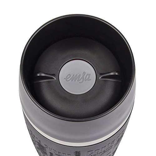 Emsa 515615 Isolierbecher, Mobil genießen, 500 ml, Quick Press Verschluss, Travel Mug Grande, schwarz - 3