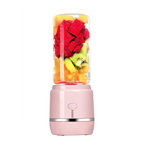Xmwm Licuadora de Jugo portátil Taza de exprimidor Recargable USB Mezclador de Frutas y Verduras Licuadora...